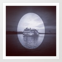 A Boat on Water Art Print