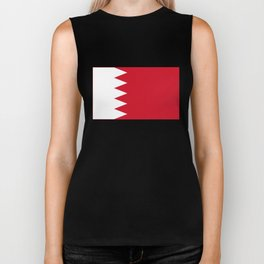 The flag of the Kingdom of Bahrain - Authentic version Biker Tank