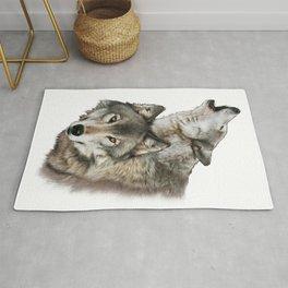Wolf Pair Rug