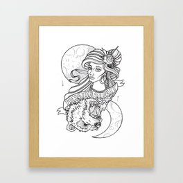 The Bear And The Lady Framed Art Print