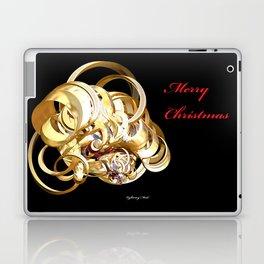 Fractal Christmas Ribbon Laptop & iPad Skin