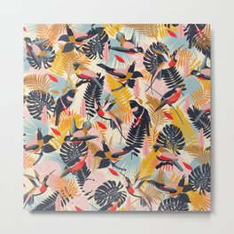 Paradise Birds II. / Small Scale Pattern Metal Print