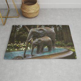 Elephant Drinking Fountain Lincoln Park Zoo Chicago Rug