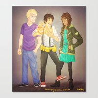 heroes of olympus Canvas Prints featuring The Heroes of Olympus, The Lost Hero by Shaungart