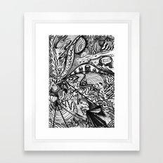 BLACK THOUGHTS  Framed Art Print