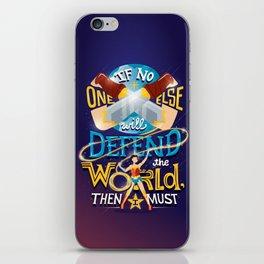 Defend your world v2 iPhone Skin