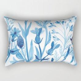 Blue Wildflowers Rectangular Pillow