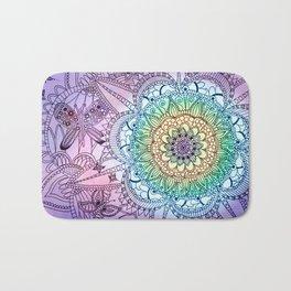 Purple Butterfly Mandala Bath Mat