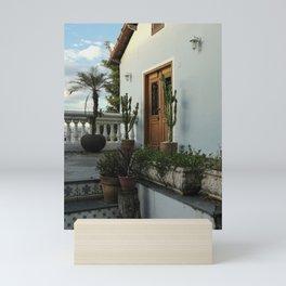 Beautiful door in Santa Teresa, Rio de Janeiro Mini Art Print