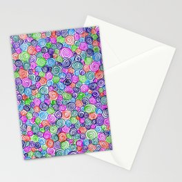 Do the Twist (bright) Stationery Cards
