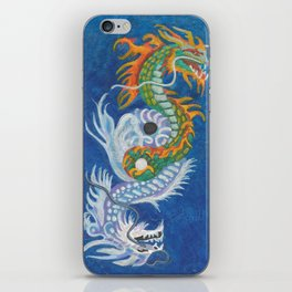 Two Dragons Face Right iPhone Skin