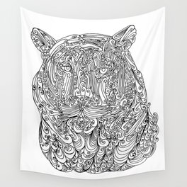 The power of the tiger Wall Tapestry