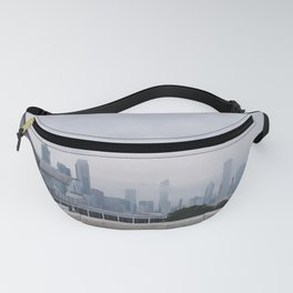 Foggy Chicago Skyline Fanny Pack