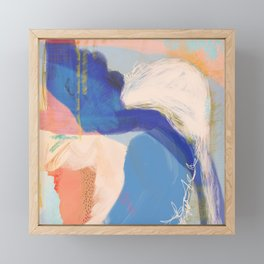 Sanibel - Shapes and Layers no. 34 - Abstract Framed Mini Art Print