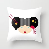 japanese Throw Pillows featuring Japanese by Shu | Formanuova