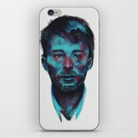 radiohead iPhone & iPod Skins featuring Thom Yorke (Radiohead) by charlotvanh