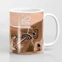 chicago bulls Mugs featuring Bulls Eye by Laura Brightwood