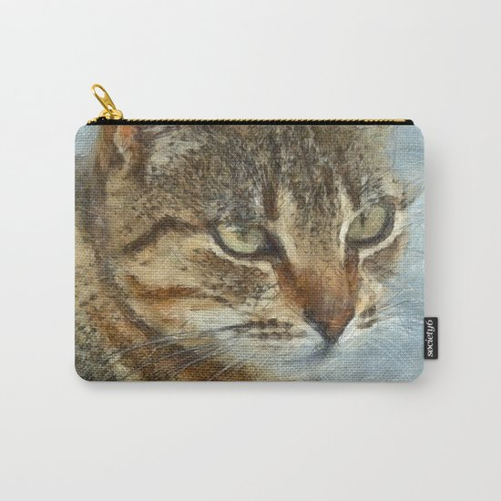 Stunning Tabby Cat Close Up Portrait Carry-All Pouch