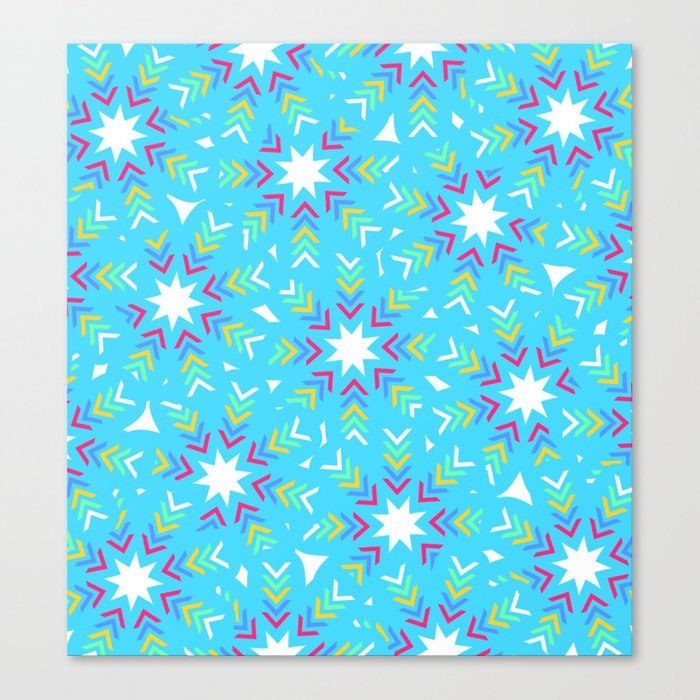 Decoration in blue Canvas Print