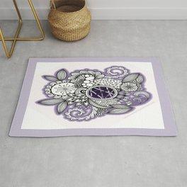 Pretty in Purple Zentangle Design Illustration Rug