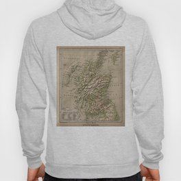 Vintage Physical Map of Scotland (1880) Hoody