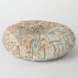 Vintage Map of Rome Italy (1911) Floor Pillow