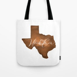 Texas Longhorn Hook Em Watercolor Tote Bag