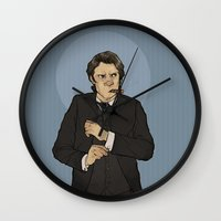 the godfather Wall Clocks featuring godfather sam by Cesca Summers