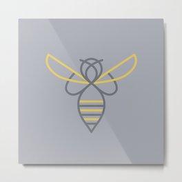 Simple Bee Metal Print