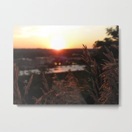 Sunset Over Michigan Metal Print