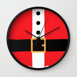 Santa's Belly Wall Clock