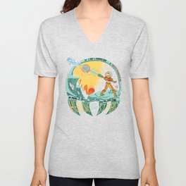 In Super Troidicolor Unisex V-Neck