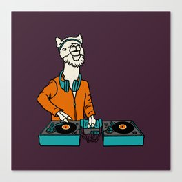 Flock of Gerrys Llama is my DJ Canvas Print