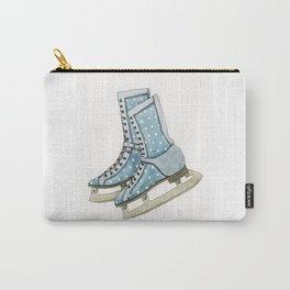 Polka dot ice skates Carry-All Pouch