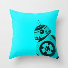 BB8 Blue Throw Pillow
