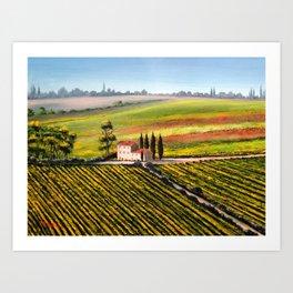 Vineyards In Tuscany Italy Art Print