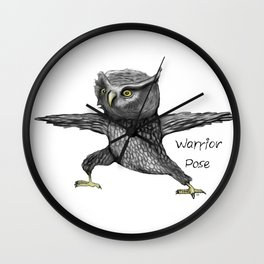 Warrior pose Wall Clock