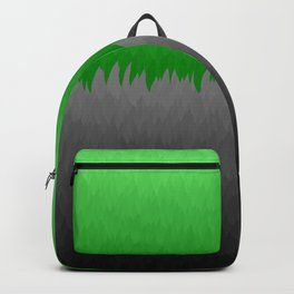 Bright Green to Gray Ombre Flames Backpack