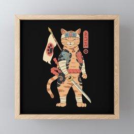 Neko Shogun Framed Mini Art Print