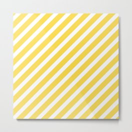 Yellow line Metal Print