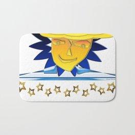 Doodle Sun-flower-man, abstract, fun design Bath Mat