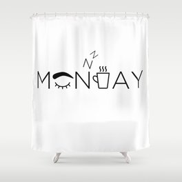 Lazy Monday Shower Curtain
