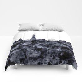 Warsaw Skyline Poland Comforters