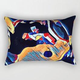 Hot Lava ~ Horse Skull Rectangular Pillow