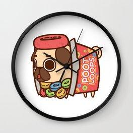 Puglie Poot Loops Wall Clock