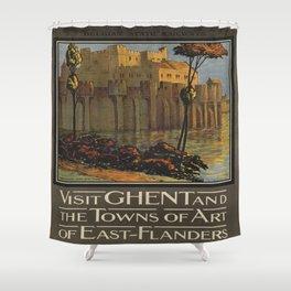Vintage poster - Ghent Shower Curtain
