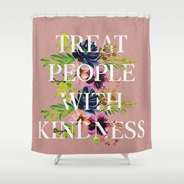 Treat People With Kindness graphic artwork / Harry Styles Shower Curtain