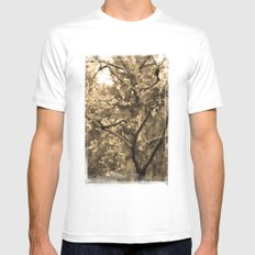 Tree of Hearts - Sepia White Mens Fitted Tee MEDIUM