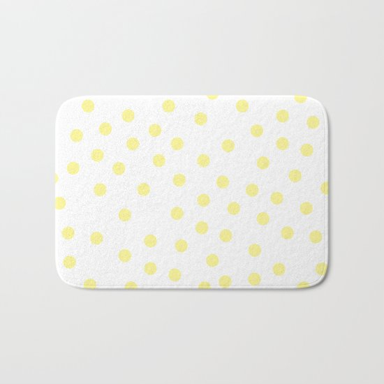 Simply Dots in Pastel Yellow Bath Mat
