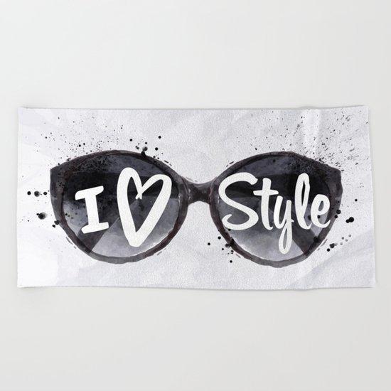 I Love Style Beach Towel